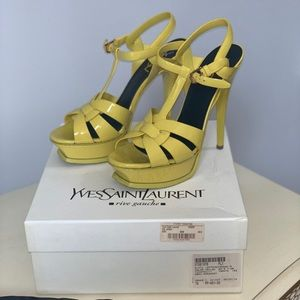 Ysl tribute yellow sandals 38.5